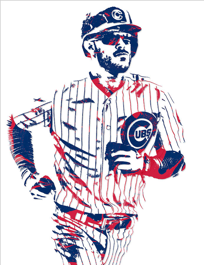 692x900 Kris Bryant Chicago Cubs Pixel Art 11 Mixed Media By Joe Hamilton