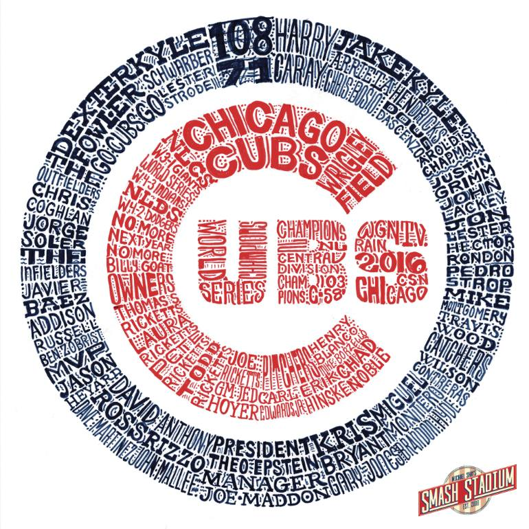 770x770 Saatchi Art Chicago Cubs 2016 World Series Typography Drawing By