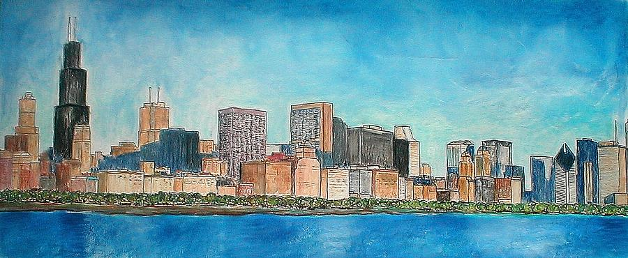 900x370 Chicago From The Adler Planetarium Drawing By Jacob Stempky