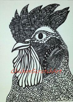 236x330 Original Chicken Artwork My Little Chicken Coop, Willow Amp Flossy
