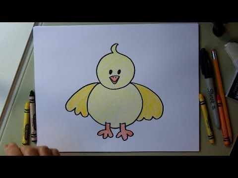 480x360 How To Draw A Baby Chick. Step By Step Easy Drawing Lesson