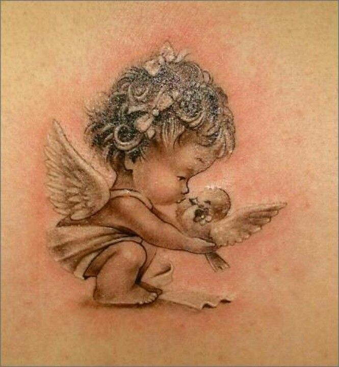 665x720 Sleeping Child Angel Tattoos