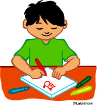 192x208 Child Drawing Clipart