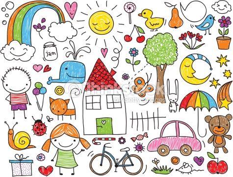 475x361 Clipart Vectoriel Children's Doodle Ecole Kids