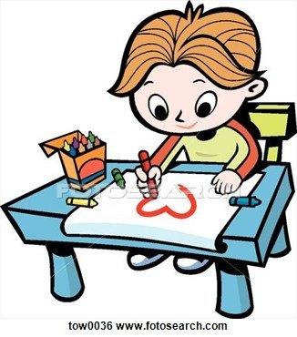 326x370 Elegant Child Drawing Clipart