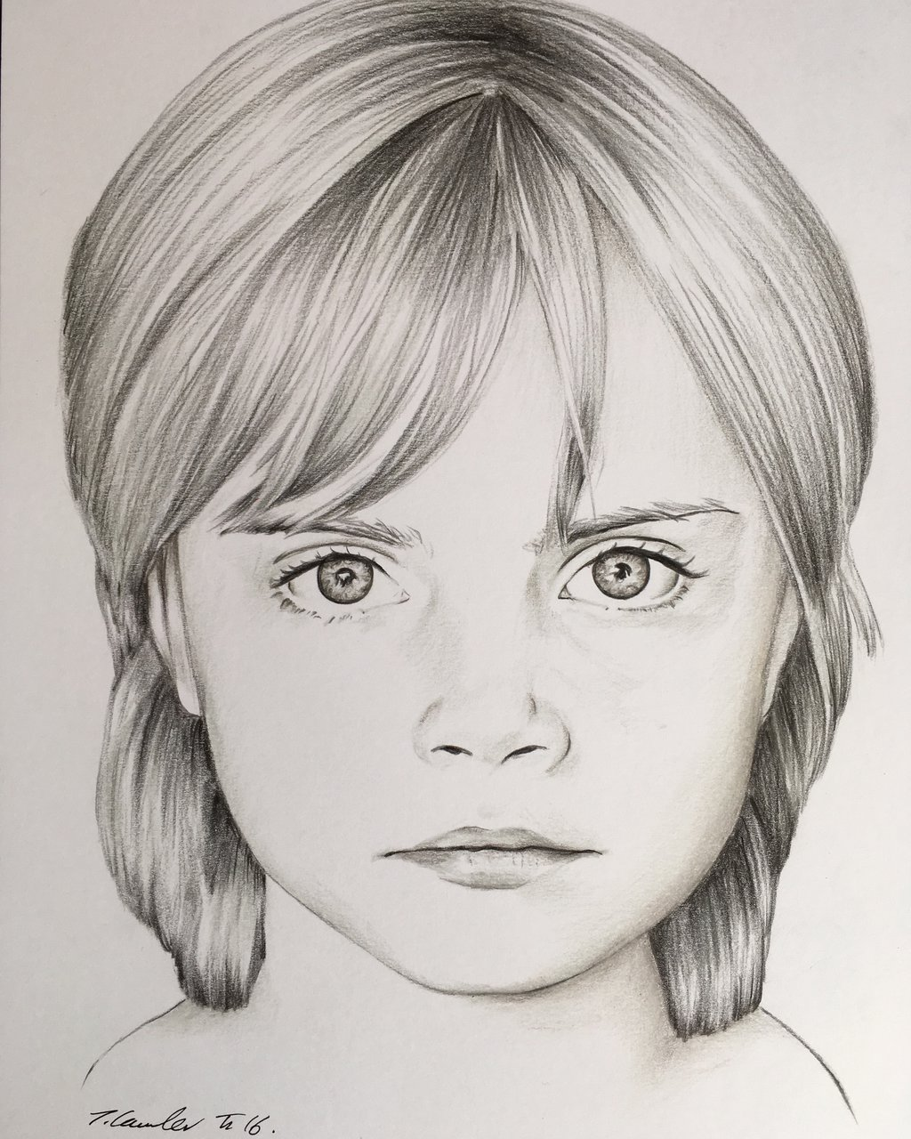 1024x1280 Young Child Cara Delevingne Drawing By Billyboyuk