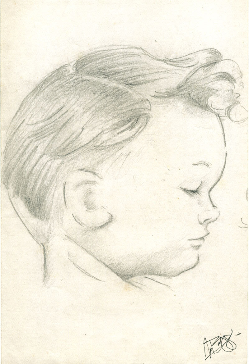 800x1172 Child's Face Sideview By Claes Gascogne