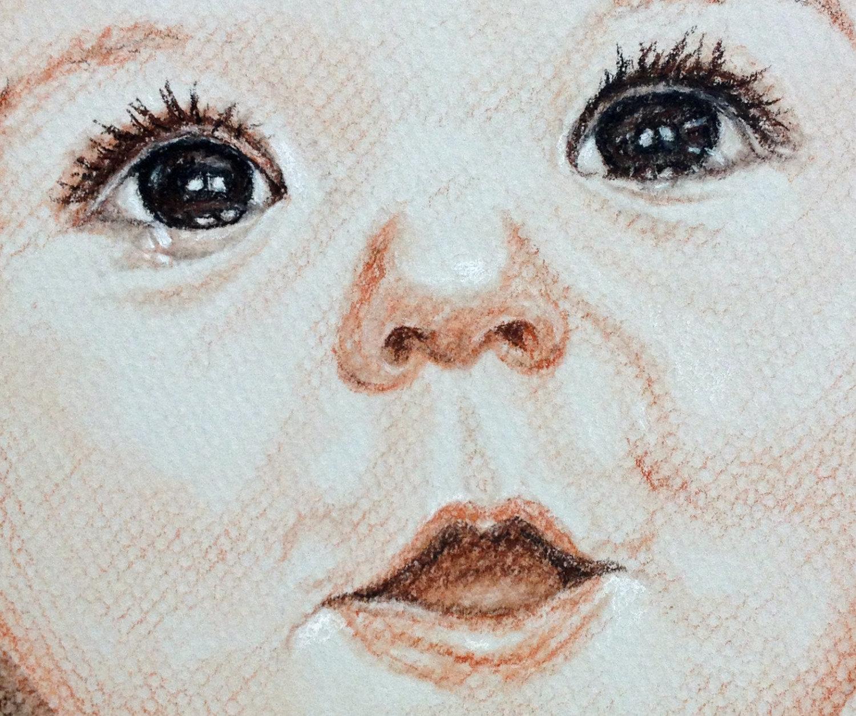 1500x1254 Custom Baby Portrait Child Portrait Custom Portrait Drawing
