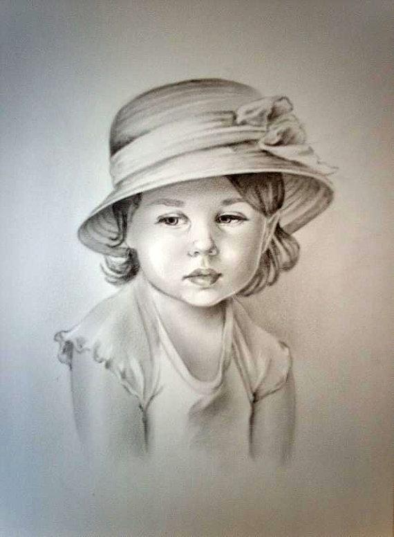 570x776 Custom Portrait Personalized Portrait Child Portrait Custom