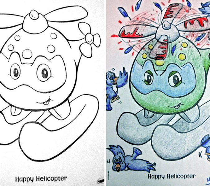 678x600 Children Drawing Book See What Happens When Adults Do Coloring