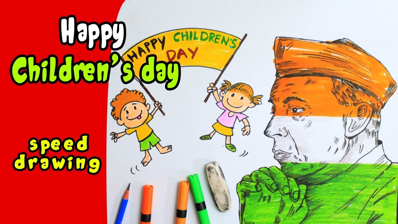 1280x720 How To Draw Happy Children's Day Greeting