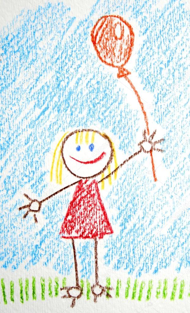 621x1023 Children's Drawing Stock Photo Otrada