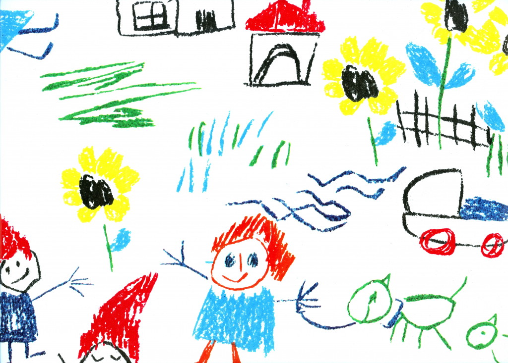 1024x733 Kid Pictures To Draw Kid Drawing Houses Childrens Drawings