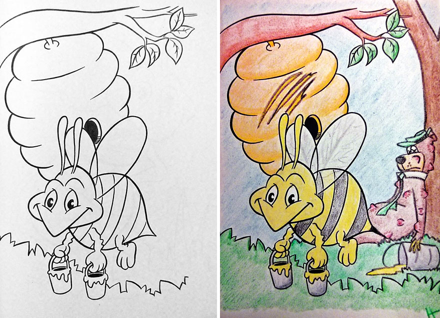 880x635 Children Drawing Book See What Happens When Adults Do Coloring