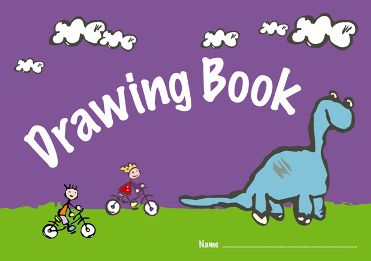 371x261 X A4 Childrens Kids Drawing Books 100gsm 24 Page