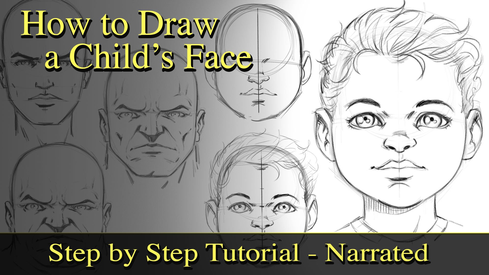 1920x1080 How To Draw A Child's Face And Study Proportions