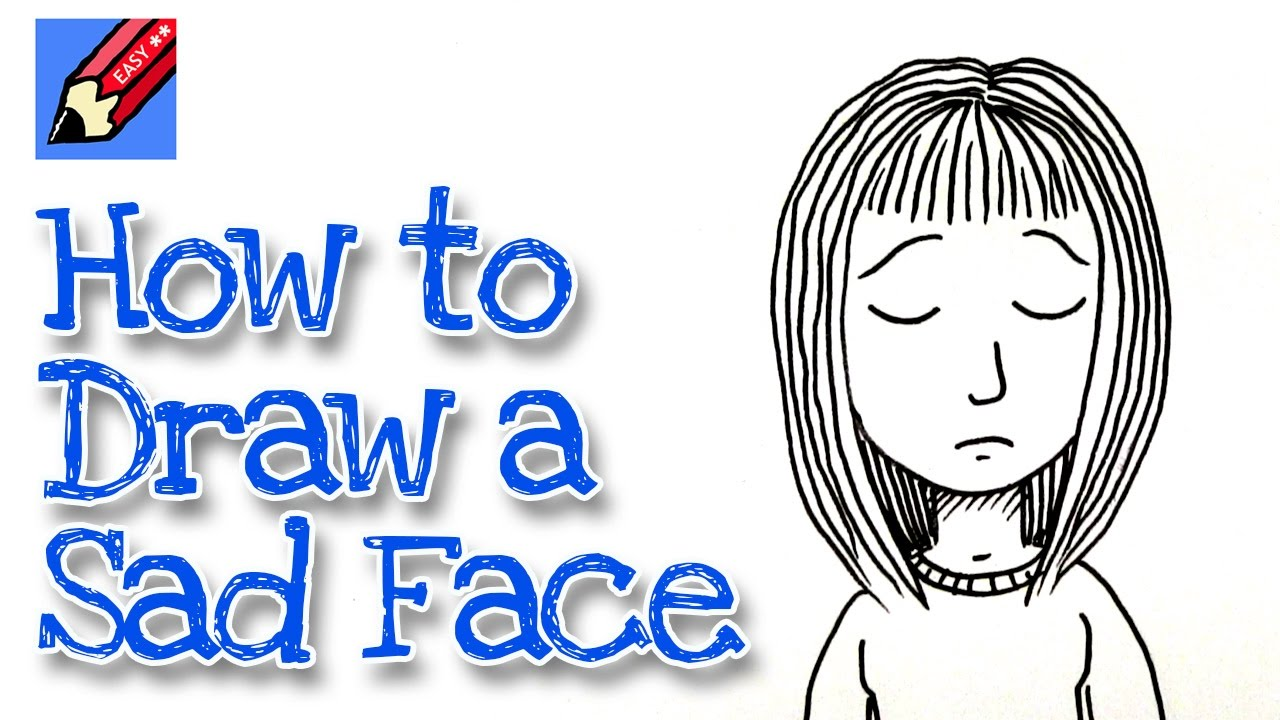 1280x720 How To Draw A Sad Face Real Easy
