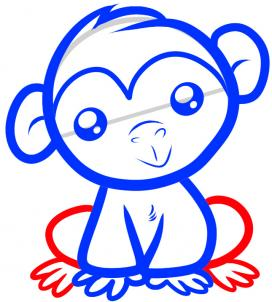 272x302 How To Draw How To Draw A Chimpanzee For Kids