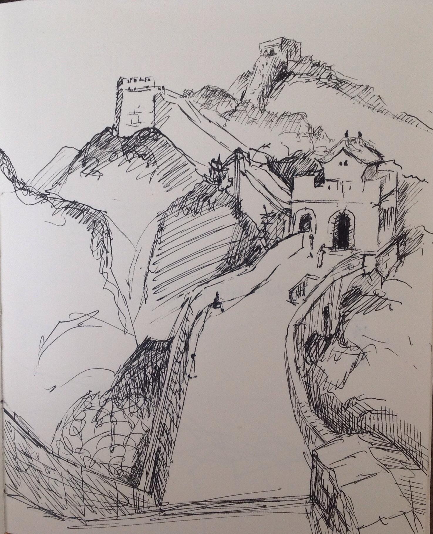 1475x1818 Michelle Mendez Artwork Great Wall Of China Badaling Original