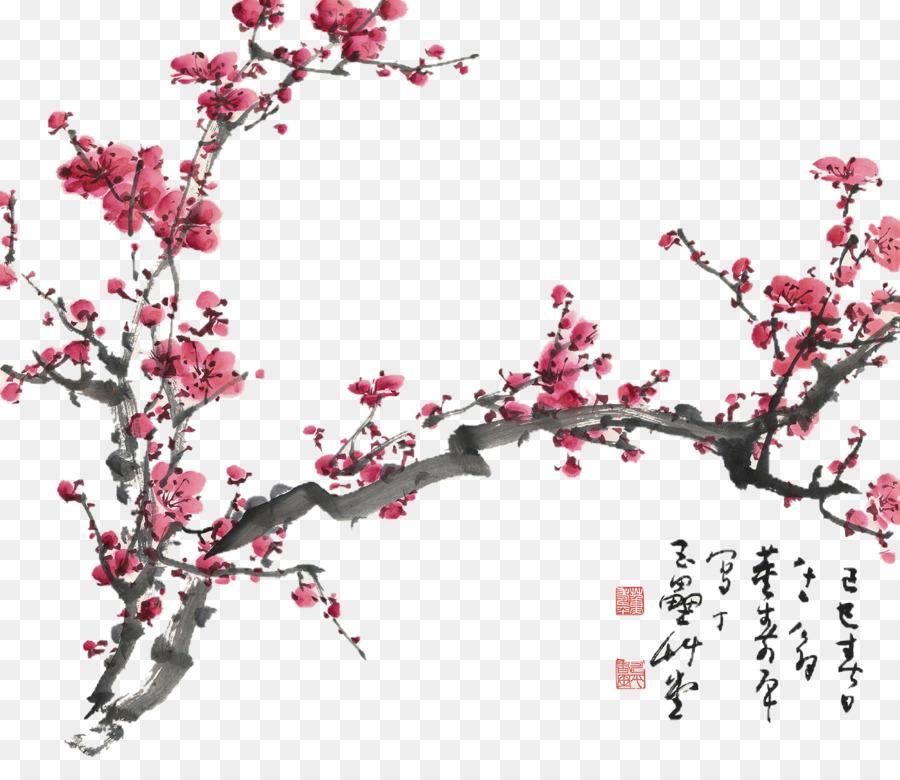 Cherry Blossom Watercolor Tattoo