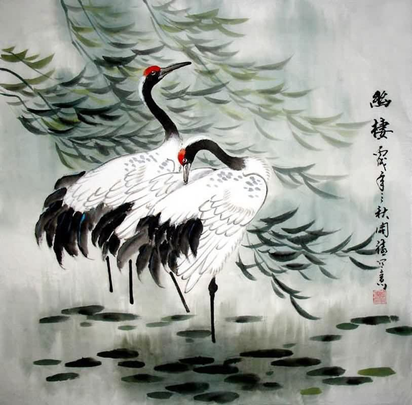 Chinese Crane Drawing At Getdrawings Free For Personal Use