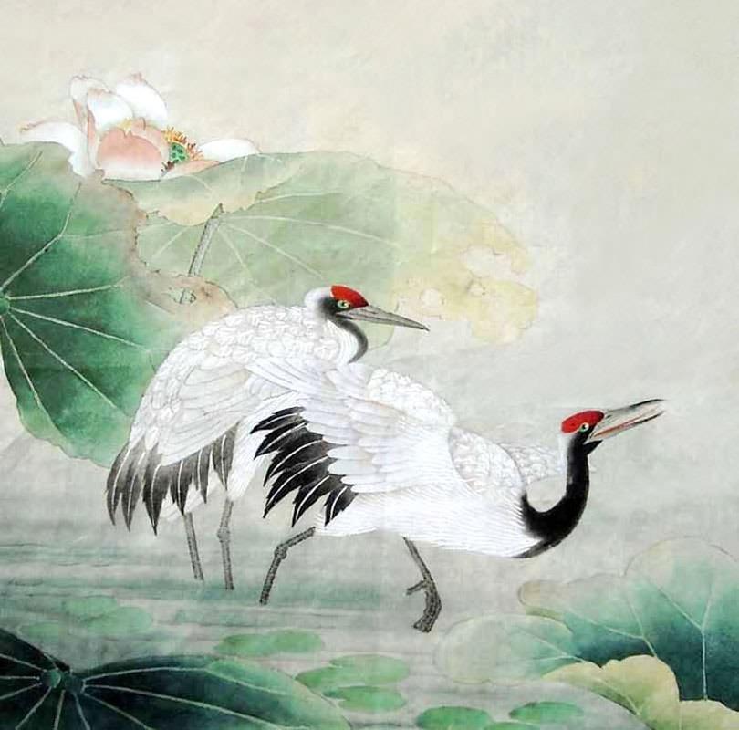 810x800 Chinese Crane Painting Crane 2345054, 50cm X X