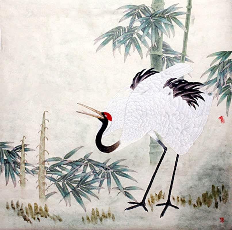 807x800 Chinese Crane Painting Crane 2389028, 66cm X X