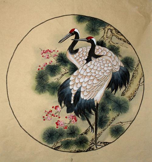 500x533 Chinese Crane Paintings Chinese Painting Blog