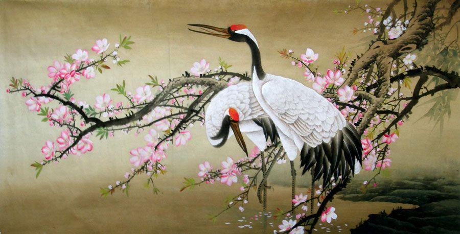 900x458 Fighting Cranes Drawings