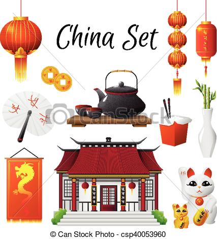427x470 China Culture Traditions Symbols Collection. Chinese Culture