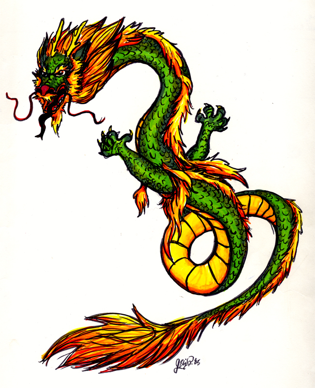 Chinese Dragon Cartoon Drawing at GetDrawings | Free download