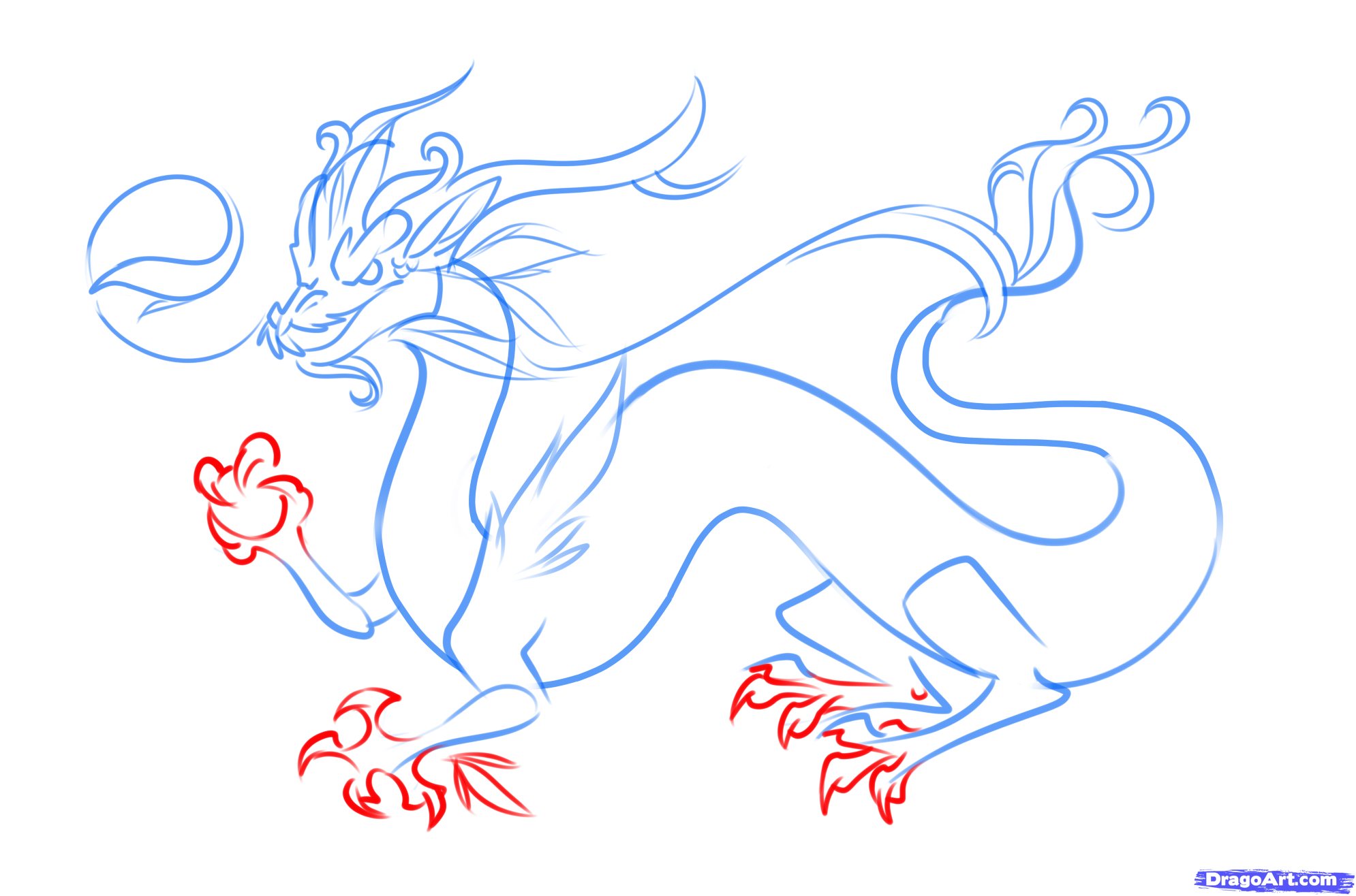 How To Draw Step By Step Dragon Art