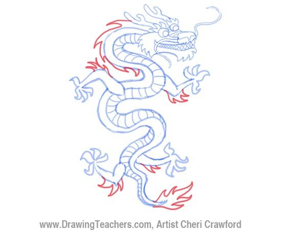 550x455 Chinese Dragon Art Lessons How To Chinese Dragon