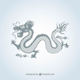 338x338 Chinese Dragon In Gray Color Lexis Draco Dragons