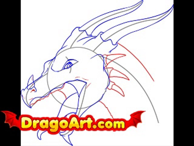 640x480 How To Draw A Dragon Head, Step By Step