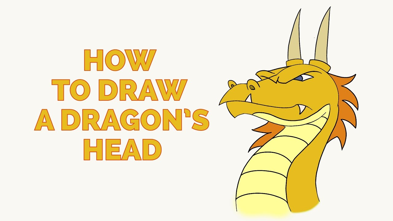 1280x720 How To Draw A Dragon Head In A Few Easy Steps Drawing Tutorial