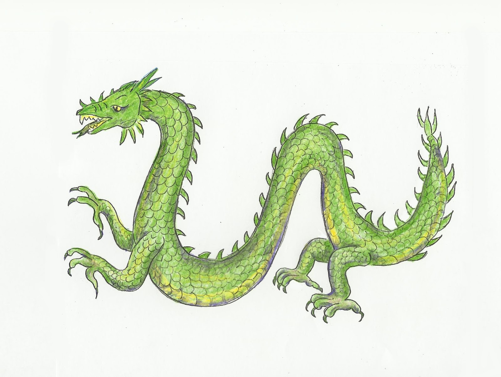 Chinese Dragon Easy Drawing at GetDrawings.com | Free for personal ...