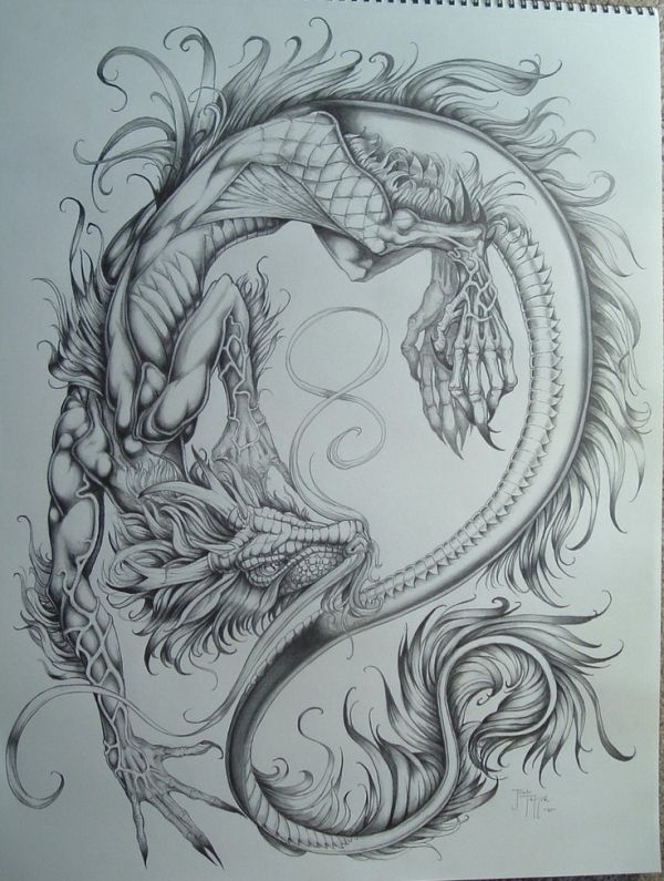 600x795 Chinese dragon by estelle TATTOO Pinterest Chinese dragon