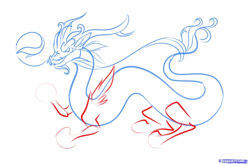 1024x677 How To Draw A Chinese Dragon How To Draw A Chinese Dragon Easy