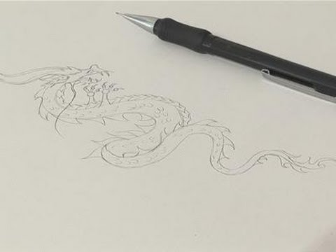 480x360 How To Sketch A Chinese Dragon Drawing
