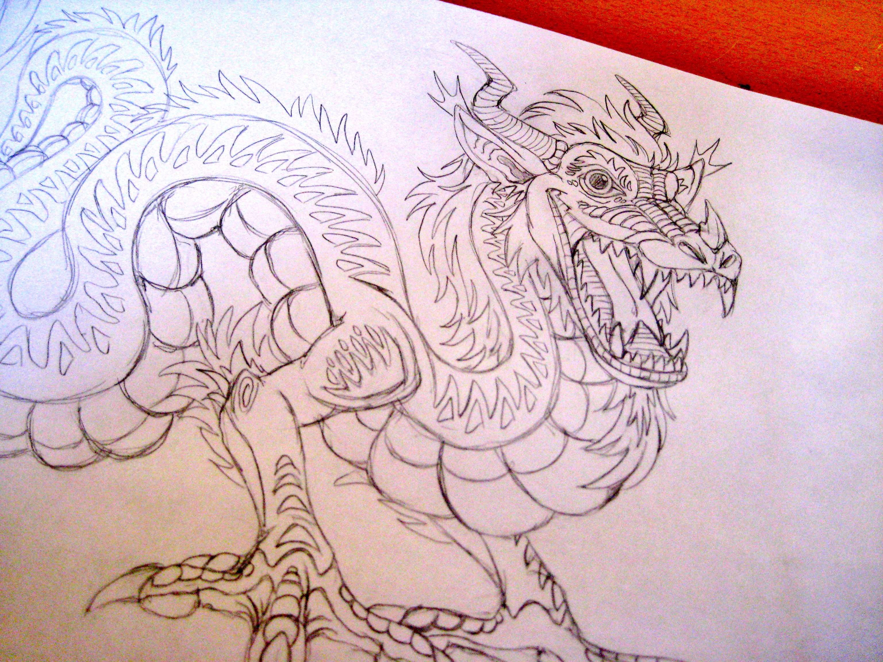 3072x2304 Stage 1 Chinese dragon, pencil sketch Sketches Pinterest