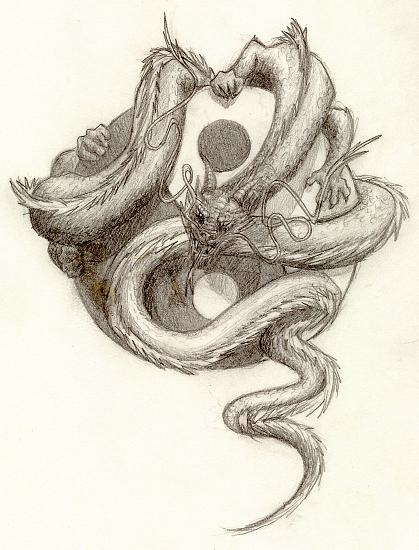 419x550 Yin Yang Dragon By Artaddict