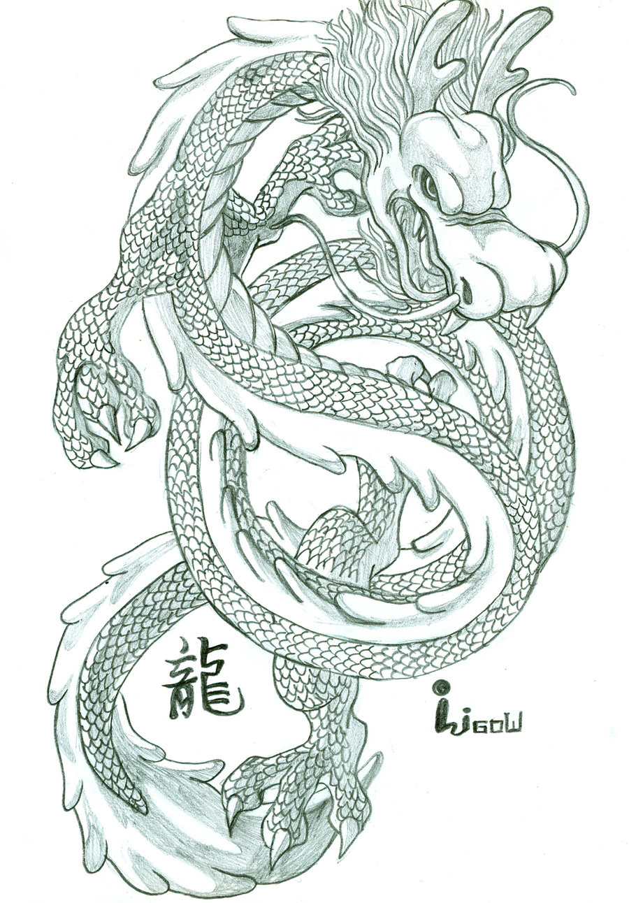 900x1292 Chinese dragon drawings Chinese Dragon By Oligow Traditional Art