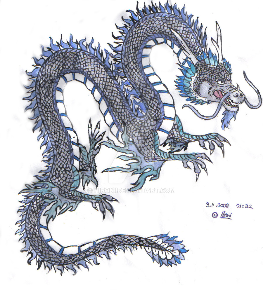 900x1004 Chinese Dragon Colored By Hironi