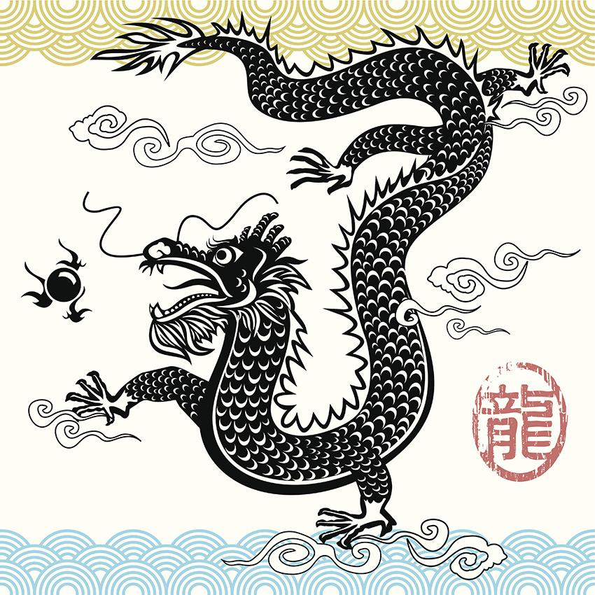850x850 Drawings Of Chinese Dragons Lovetoknow