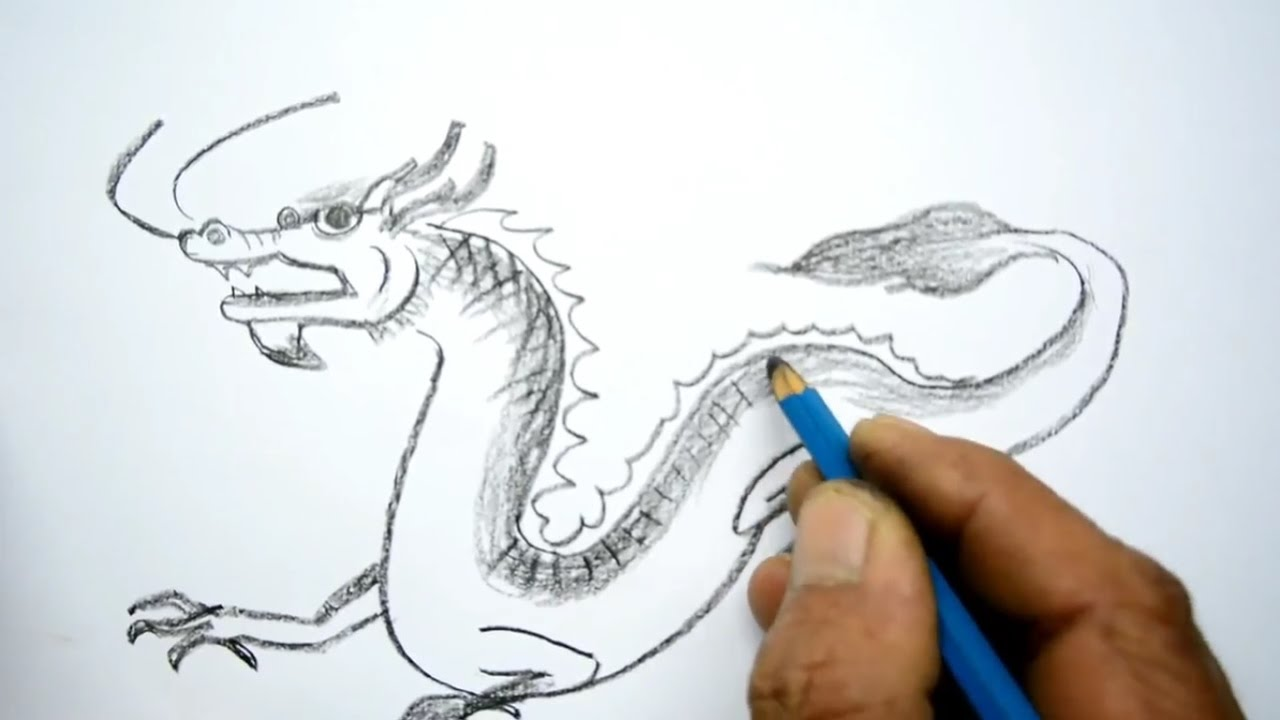 1280x720 How To Draw A Chinese Dragon