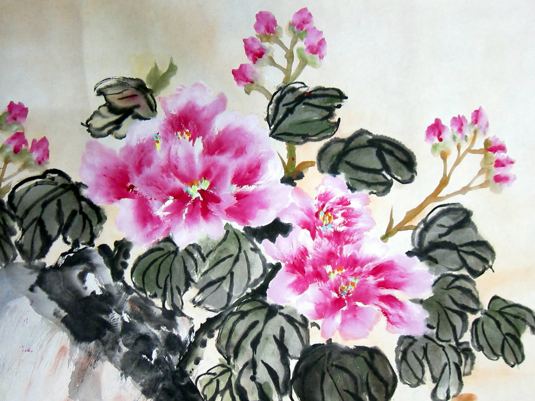 Chinese flower drawing at getdrawings free for personal use 1824x1368 flower yipsss page 2 izmirmasajfo