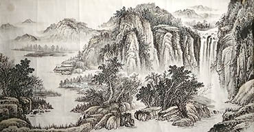 370x192 Chinese Landscape Paintings, Oriental Painting Scrolls With Landscapes