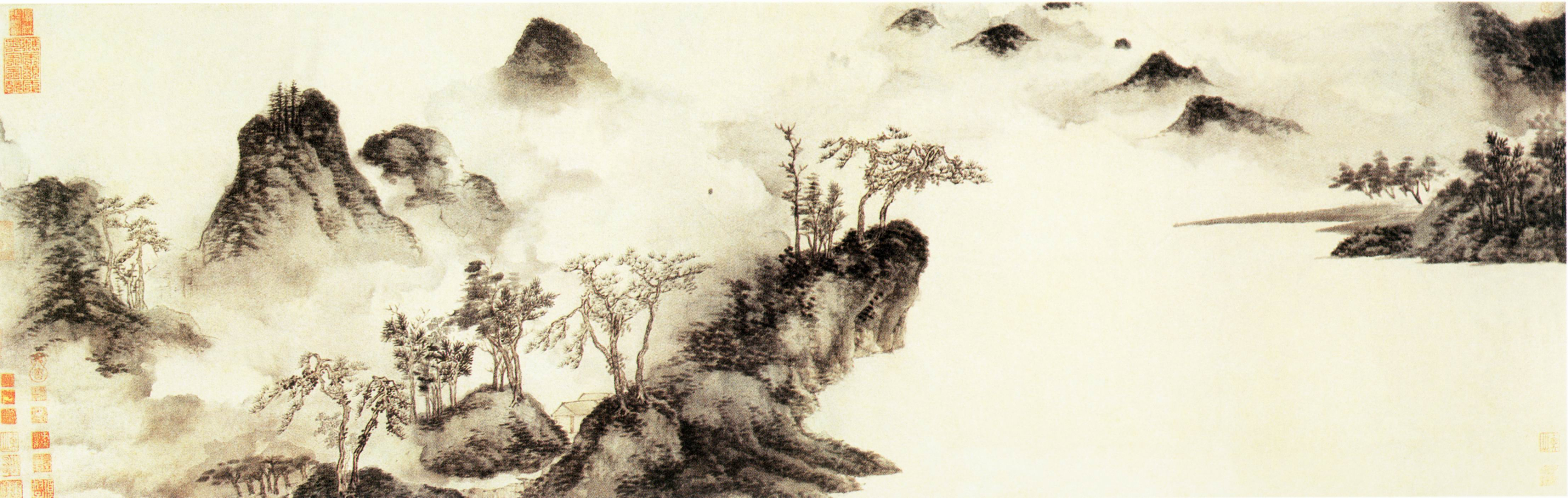 4427x1406 Landscape Drawings To Copy Chinese Landscape Drawing Copy