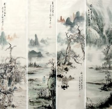 370x362 Yang Dong Paintings, Chinese Landscapes Painting Artists Biography